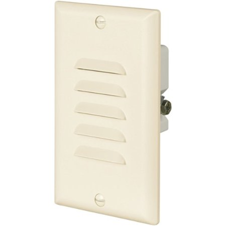 Eaton 7739LA 15-Amp 120-Volt LED Stoplight with Vertical and Horizontal Louvered Wall plates, Light Almond