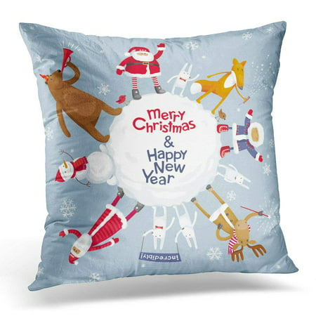 ARHOME Red Funny Christmas Planet Merry for Sales and Other Winter Events White Santa Pillow Case Pillow Cover 20x20 - Winter Themed Events