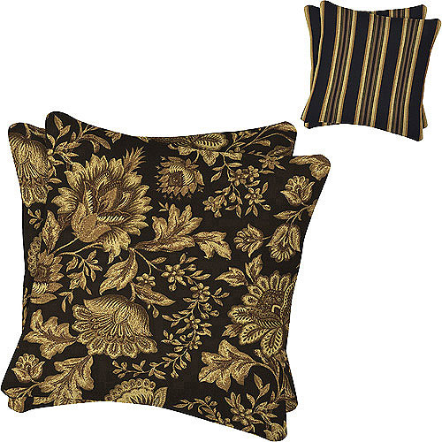 "16"" Outdoor Toss Pillows, Set of 2, Melinda Midnight"