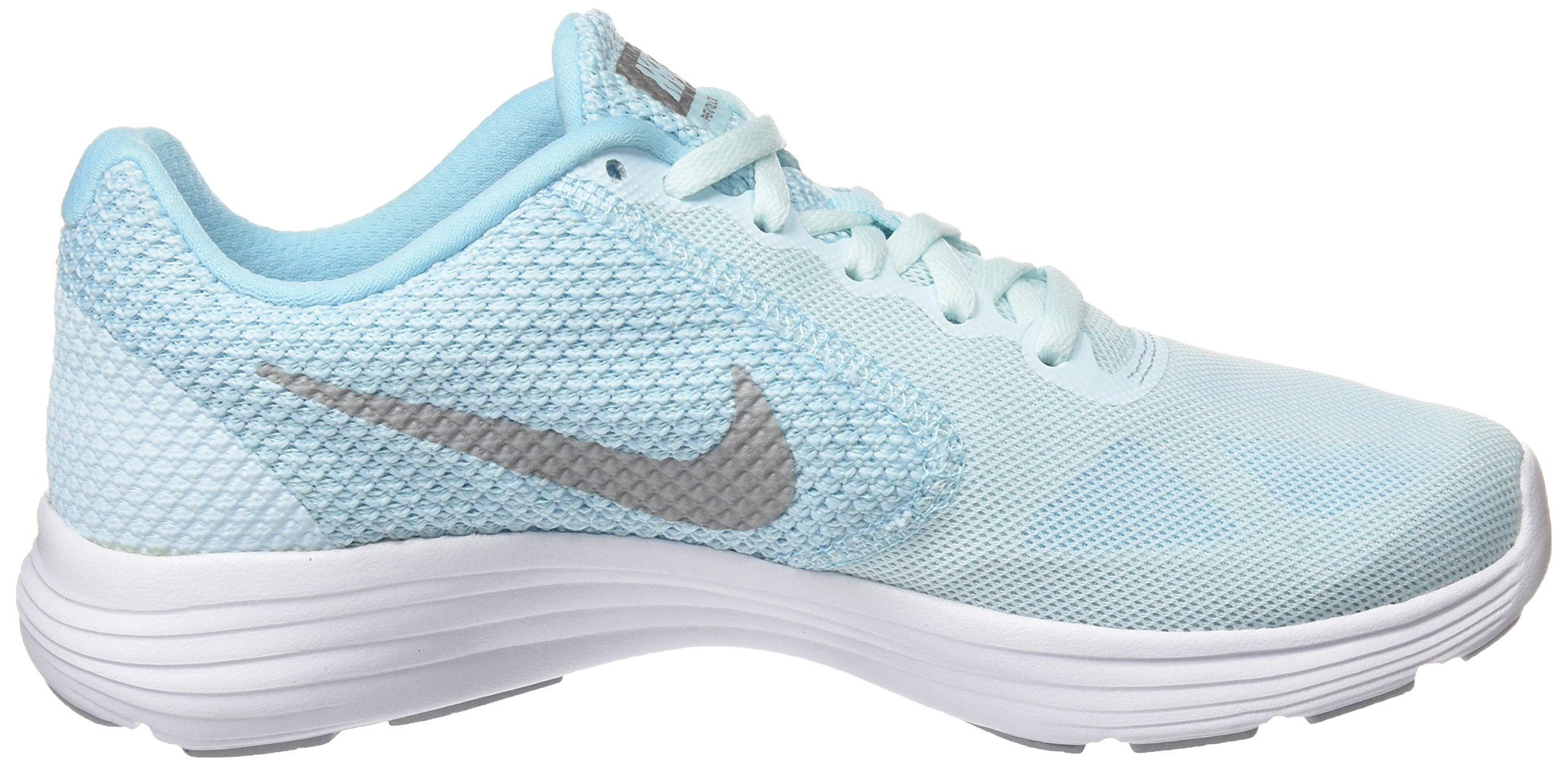 NIKE Women's Revolution 3 Running Shoe, Glacier Blue Silver Still Blue, US Women's