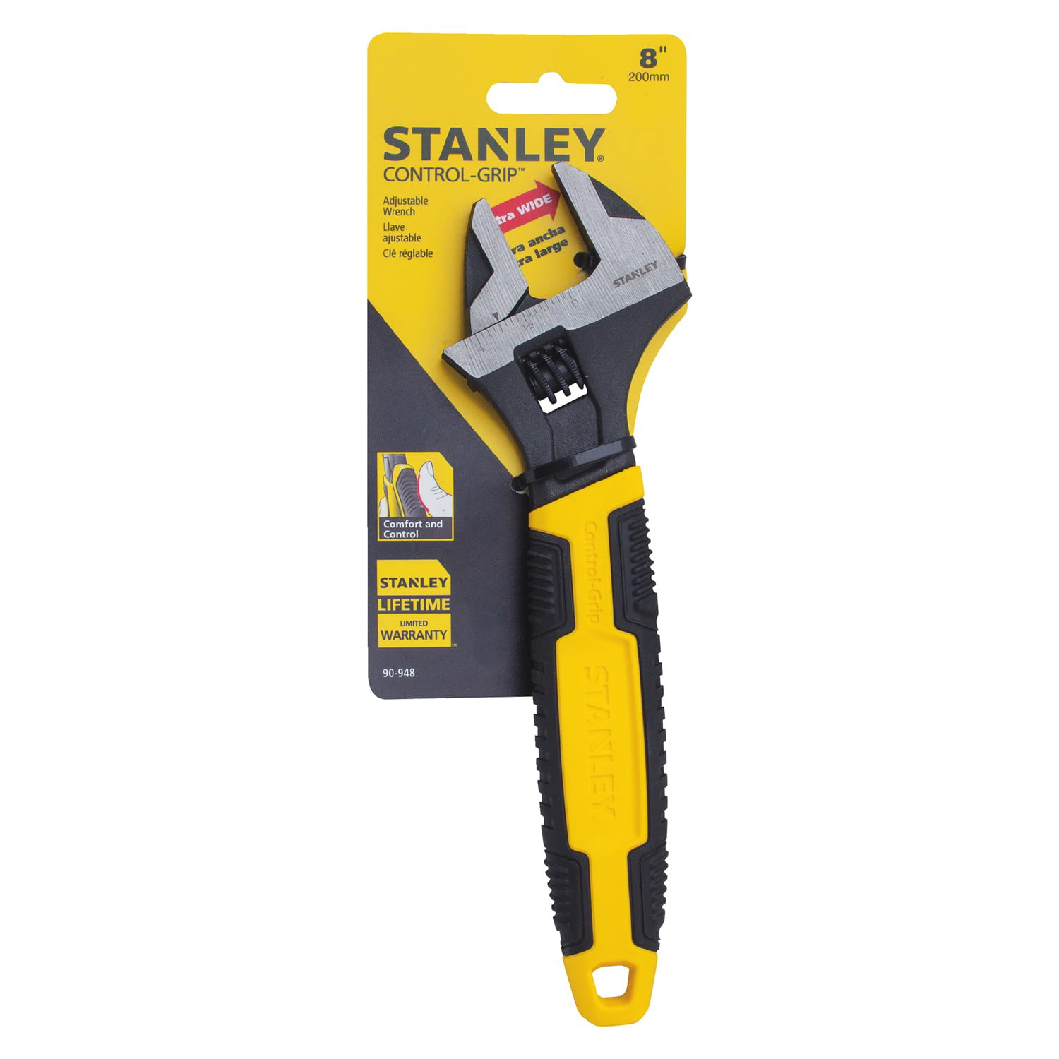 STANLEY 90-948 8'' Adjustable Wrench by Stanley Black & Decker