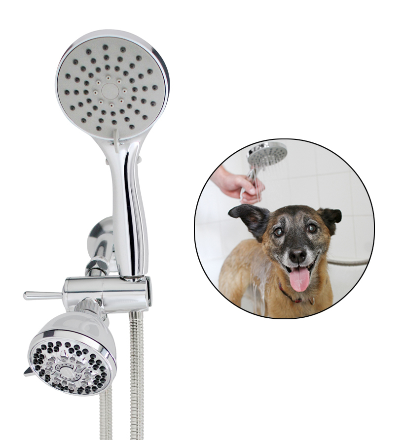 SmarterFresh Pet Shower Sprayer Set, Complete Pet Wash Hand Held Shower Attachment for Home Dog Washing Station