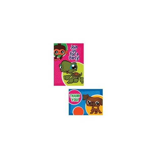 Littlest Pet Shop Invitations and Thank You Notes w/ Env. (8ct)