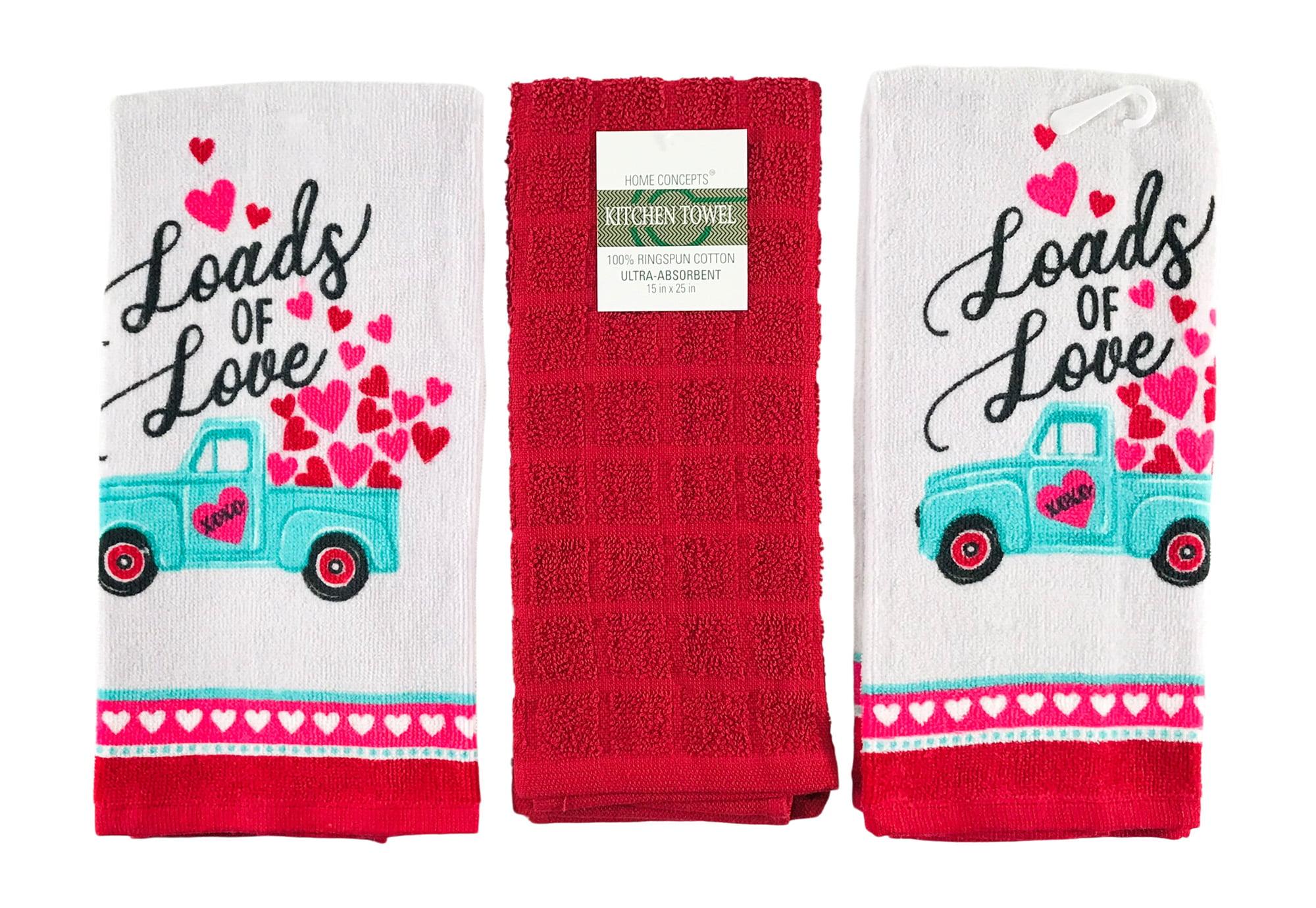 Valentine/'s Day Hearts Love   Whole Kitchen Towel