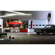 Startonight 3D Mural Wall Art Photo Decor Red Mustang Amazing Dual View Surprise Wall Mural Wallpaper for Bedroom Retro  Wall Paper Art Gift Large 47.24 ?? By 86.61 ??