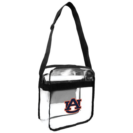 Little Earth - NCAA Clear Carryall Cross Body Bag, Auburn University Tigers