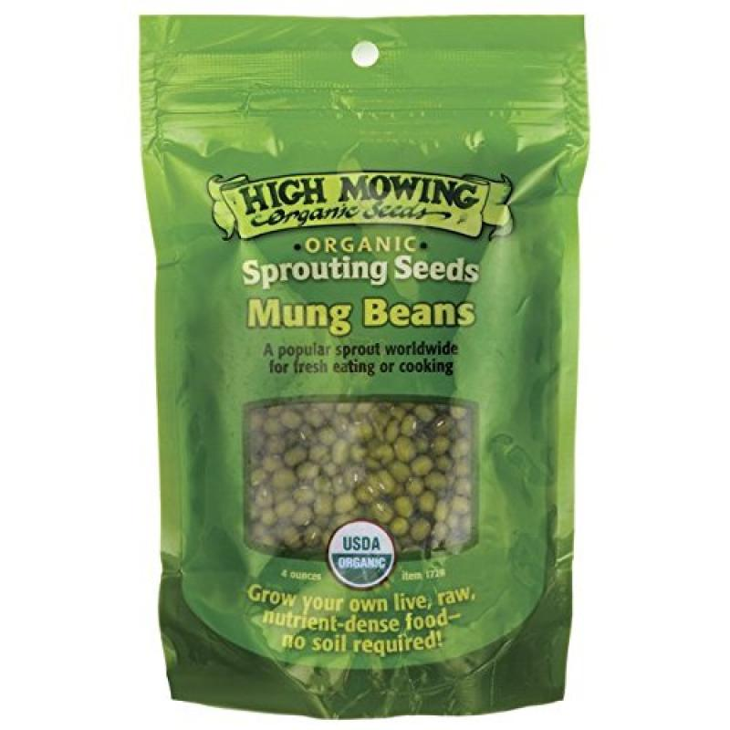 High Mowing Organic Seeds Sprouting Seeds Mung Beans 4 oz Pkts by