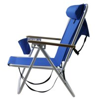 Portable Folding Fishing Chair Outdoor Camping Leisure Picnic Beach Adjustable Headrest Chair