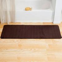 "Somerset Home Memory Foam Striped Extra Long Bath Mat, 24"" x 60"""