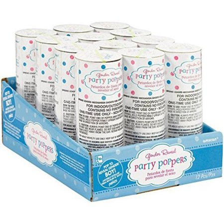 Spring Confetti (Amscan International Spring Loaded Confetti Poppers x 12 -)