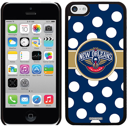 New Orleans Pelicans Polka Dots Design on Apple iPhone 5c Thinshield Snap-On Case by Coveroo