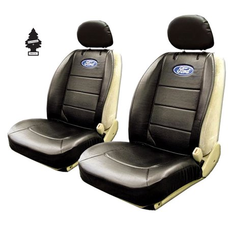 New Pair of Ford Logo Universal Sideless Seat Cover w/ HeadRest and Air