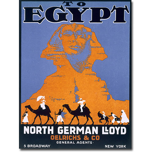 """Trademark Art """"Egypt, Norddeutscher Lloyd"""" Canvas Wall Art"""