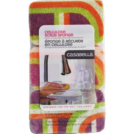 Casabella Scrubby Sponges Coral 3 pack
