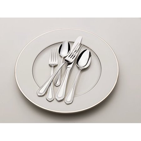 Mikasa Regent Bead 20-Piece Stainless Steel Flatware Set, Service for 5 (Bead Flatware)