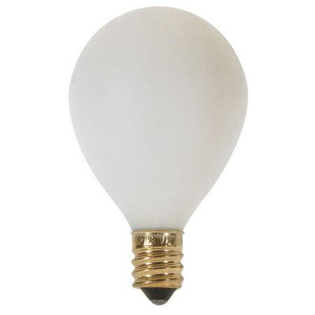 - Satco S3879 15W 120V Globe G12.5 Satin White E12 Candelabra Base Incand. bulb