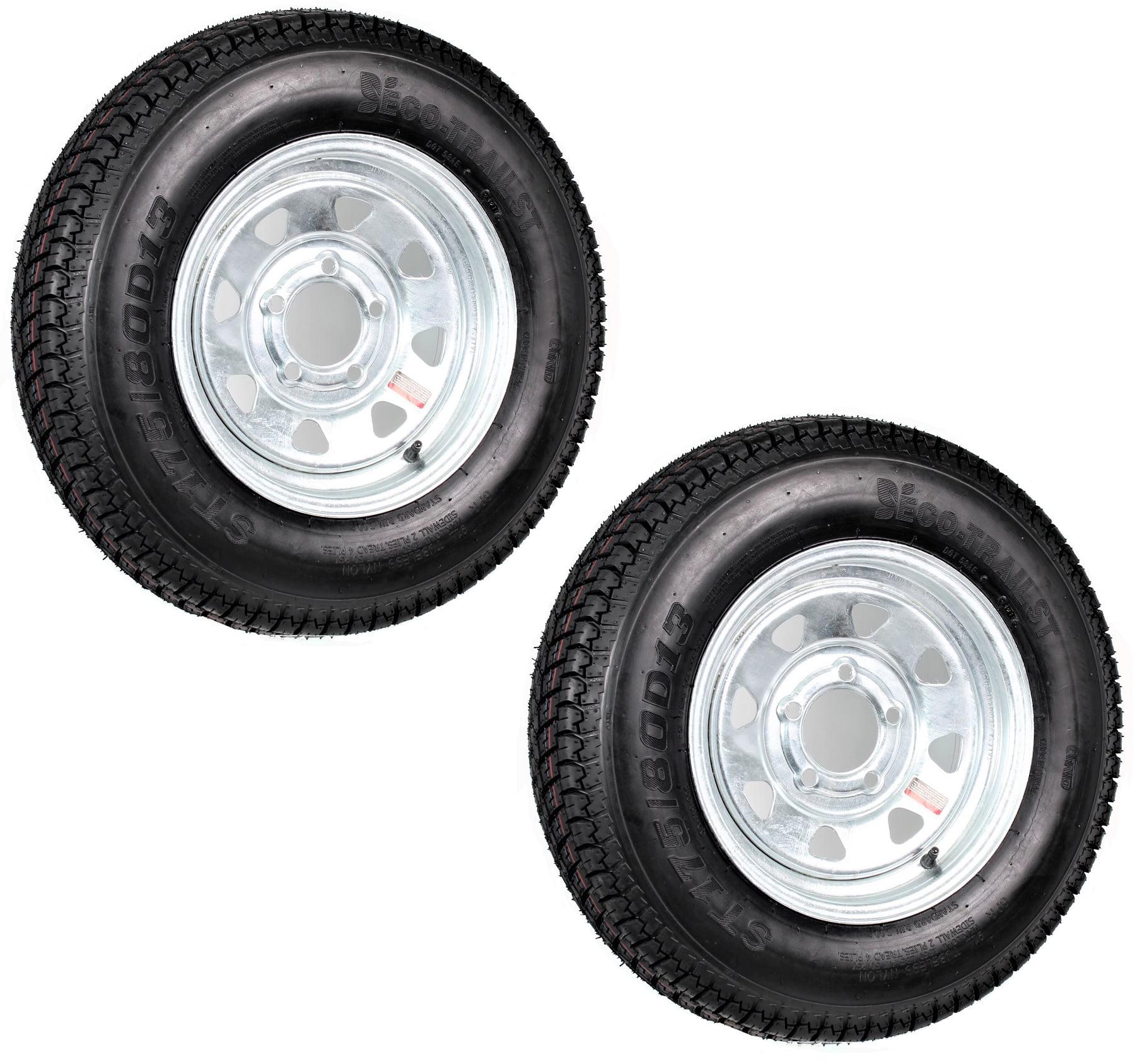 Rainier ST175//80R13 LRD Radial Trailer Tire /& Wheel White Mod 5-4.5