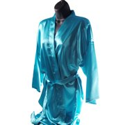 Womens Short Kimono Solid Satin Lounge Robe 1c5990c11