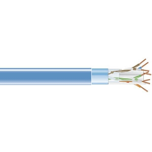 1000ft Cat6 Blue Shielded Solid Bulk Cable 400mhz Stp 24awg 4pair