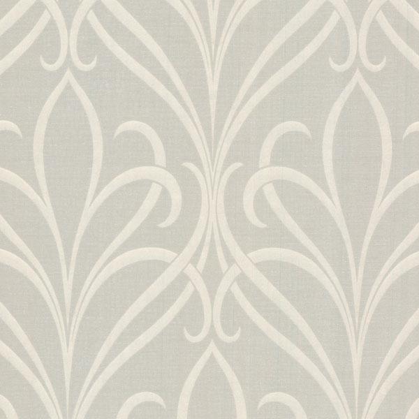 Decorline Lalique Taupe Nouveau Damask Wallpaper