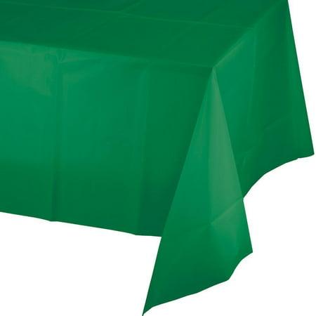 Creative Converting Emerald Green Plastic Tablecover 54