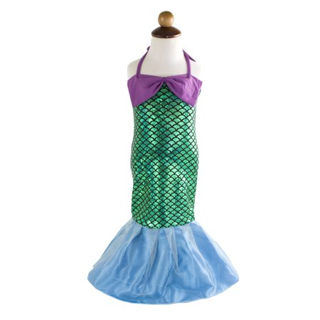 Styles I Love Kid Girls Lovely Princess Mermaid Tail Dress Birthday Party Halloween Costume Outfit (130/9-10 Years)](Halloween Birthday Girl)