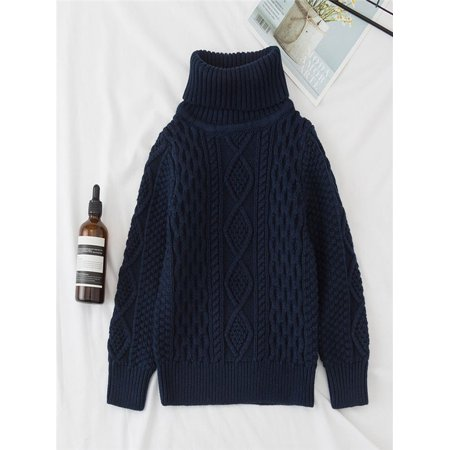b9f16400d5ed Children Baby Girls Boys Knitted Sweater Solid Sewing Warm Tops Outfit  Clothes - Walmart.com