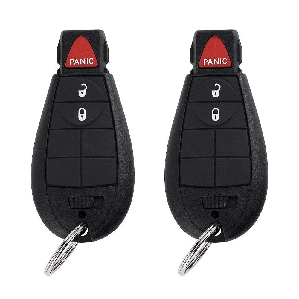 2 Pack New Keyless Entry 4 Buttons Remote Start Car Key Fob M3N5WY783X IYZ-C01C For Chrysler 300 Challenger Charger Durango Jeep Grand Cherokee