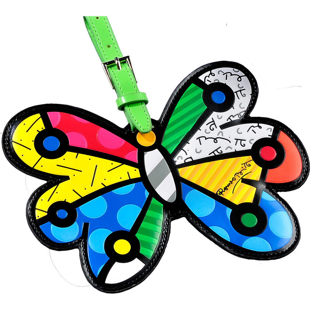 GiftCraft Romero Britto Butterfly Luggage Tag Travel Bags ID Name Bag Backpack Custom New