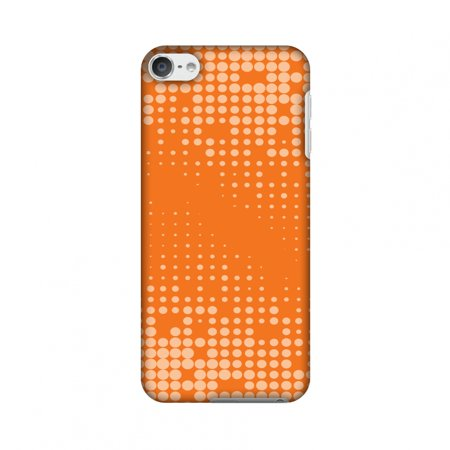 Carbon Fiber Ipod Touch Case - iPod Touch 6th Gen Case - Carbon Fibre Redux Tangy Orange 11, Hard Plastic Back Cover, Slim Profile Cute Printed Designer Snap on Case with Screen Cleaning Kit