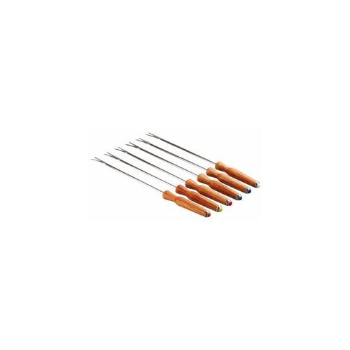 Paderno World Cuisine Fondue Forks, Set of 6, Brown by Paderno World Cuisine