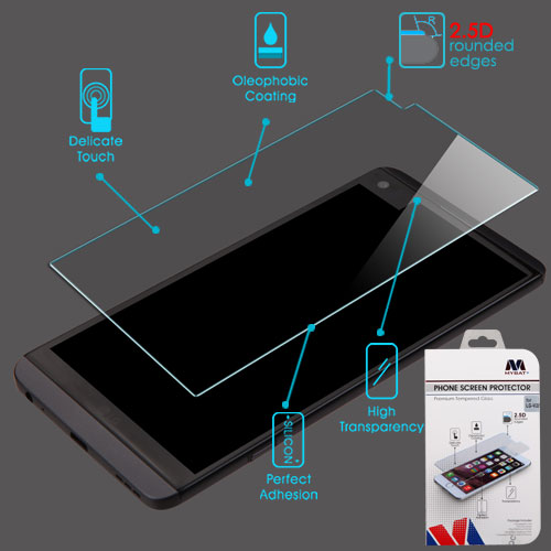 For LG V20 Clear Tempered Glass Screen Protector Film Guard Cover (2.5D)