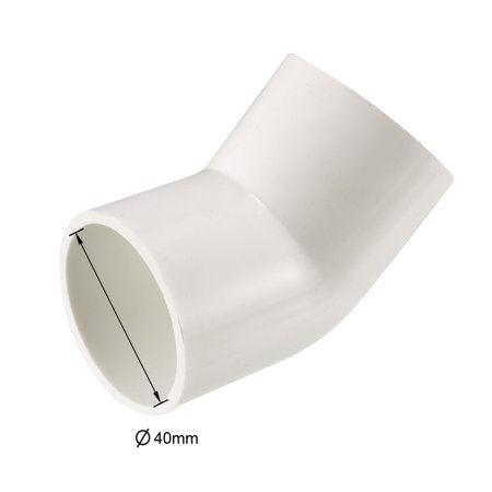 40mm Slip 45 Degree PVC Pipe Fitting Elbow Coupling Connector 2 Pcs - image 2 of 4