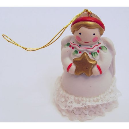 Jolly Jingles 1986 Porcelain Angel Collector Bell Christmas Ornament - Angel Bell Necklace