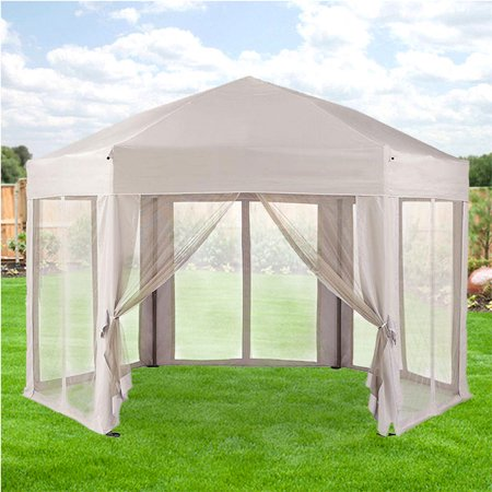 Garden Winds Replacement Canopy Top for Pearl Bisque Hexagon Gazebo - Riplock -