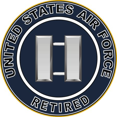 3.8 Inch U.S. Air Force Retired Captain Decal
