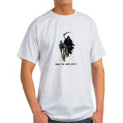 CafePress - Grim Reaper Chasing Cyclist - Light T-Shirt - CP