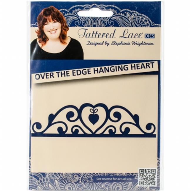 141547 Tattered Lace Metal Die, Over The Edge Hanging Heart