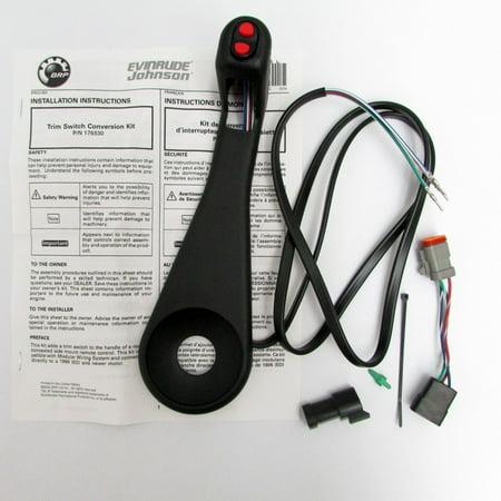 johnson/evinrude/omc new remote control trim switch conversion 0176530, 176530