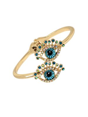 Betsey's Delicates Eye Bypass Hinged Bangle Bracelet
