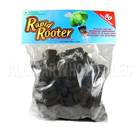 General Hydroponics Rapid Rooter 50 Pack Replacement Plugs Clone Cloning Seed... Rapid Rooter Plugs