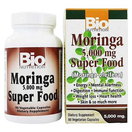 Bio Nutrition Moringa Capsules, 5000 Mg, 90 Ct