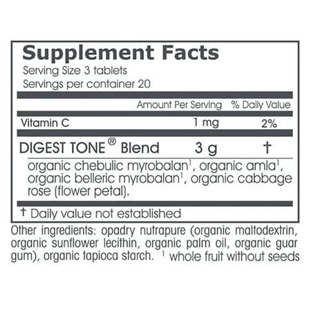 Organic Digest Tone (Triphala Plus) | 60 Herbal Tablets | Premium Triphala  with Cabbage Rose | Balancing Formula for Regular Elimination & Proper
