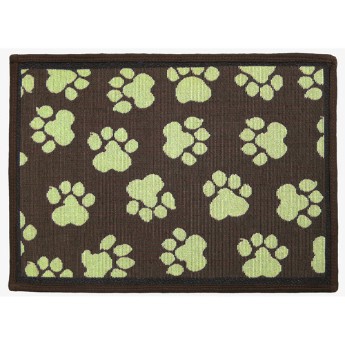 Park B Smith Ltd PB Paws & Co. Woodland / Green World Paws Tapestry Indoor/Outdoor Area Rug