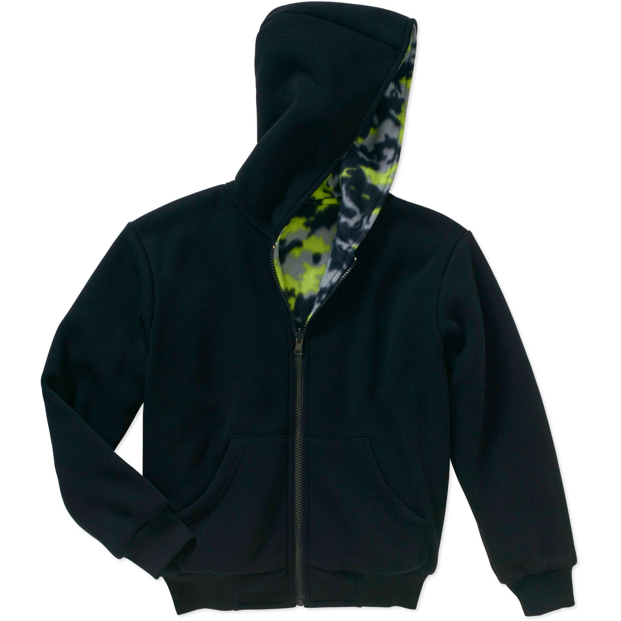 Bocini Boys' Reversible Fleece Hooded Jacket