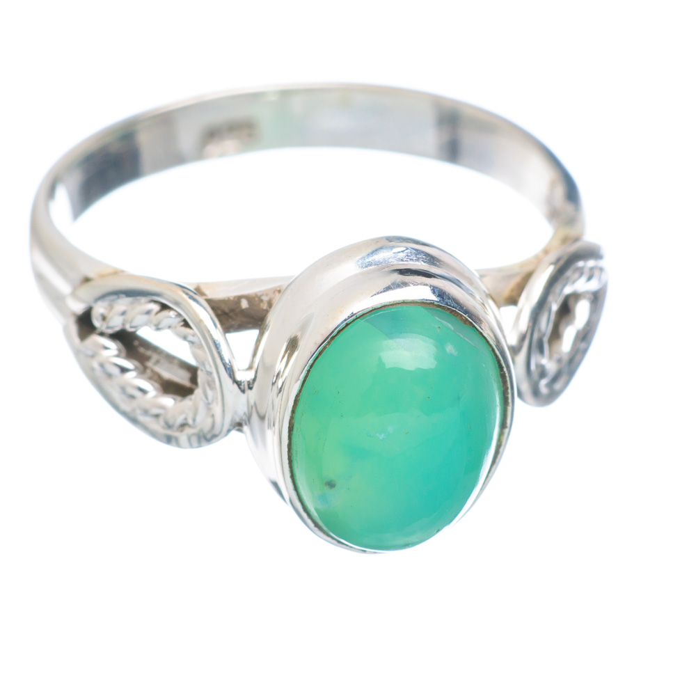 Ana Silver Co Chrysoprase Ring Size 6.5 (925 Sterling Silver) Handmade Jewelry RING855648 by Ana Silver Co.