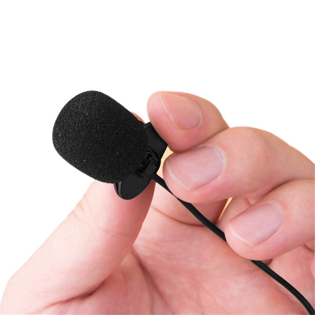 New Mini Portable 3.5mm Mini Studio Speech Mic Microphone w/ Clip for PC Desktop Notebook Lectures Teaching Mic Black