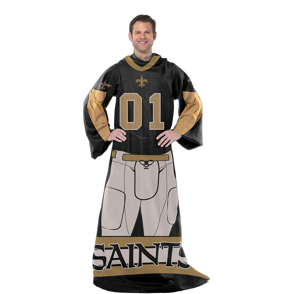 "NFL New Orleans Saints Player 48"" X 71"" Full Body Comfy"