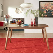 """Chelsea Lane Mid Century Modern 60"""" Wooden Dining Table, Multiple Finishes"""