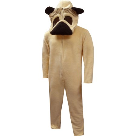 Loveable Pug Dog Onesie Hooded Pajama
